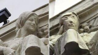 【悲報】スペインの修復された石像が完全に邪神wwwwwwwwwww
