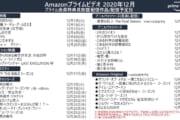 【アニメ】Amazonプライムビデオ 12月のラインナップが公開!
