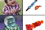 【画像】クリスマスに『子供に人気の!ジャンプ作品の!主人公の武器!』の玩具を頼んだ結果wwwwwwwwwwww